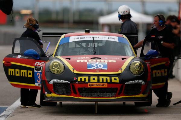 18-20 September 2014, Austin, Texas USA  30, Porsche, 911 GT America, GTD, Henrique Cisneros, Kuba Giermaziak ©2014, Michael L. Levitt LAT Photo USA