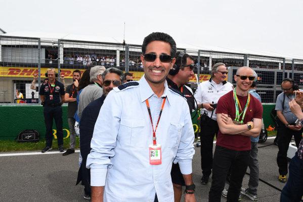 Shaikh Salman Bin Isa Al Khalifa (UAE), Chief Operating Officer Bahrain International Circuit on the grid at Formula One World Championship, Rd7, Canadian Grand Prix, Race, Montreal, Canada, Sunday 7 June 2015.