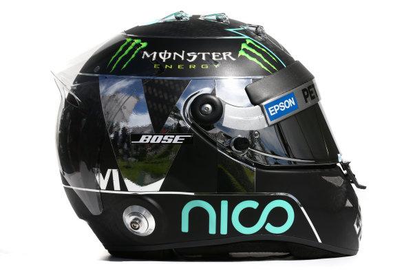 Albert Park, Melbourne, Australia. Helmet of Nico Rosberg, Mercedes AMG.  Thursday 12 March 2015. World Copyright: LAT Photographic. ref: Digital Image 2015_Helmet_059