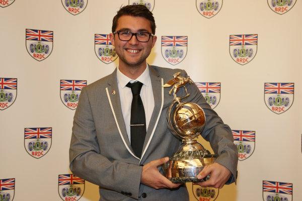 2013 BRDC Awards,2nd December 2013, Grand Connaught Rooms, London, England. Andrew Jordan. World Copyright. Jakob  Ebrey/LAT Photographic