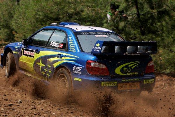 2004 FIA World Rally Champs. Round seven, Rally Turkey.24th- 27th June 2004.Petter Solberg, Subaru, action.World Copyright: McKlein/LAT
