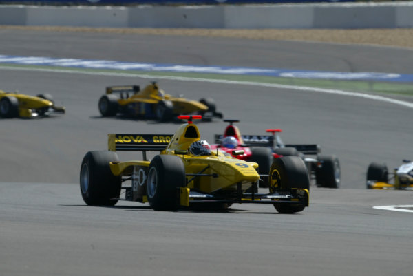 2004 Formula 3000 Championship (F3000) Nurburgring, Germany.29th May 2004. Patrick Friesacher (Super Nova Racing) leads. Action.World Copyright: LAT Photographic ref: Digital Image Only
