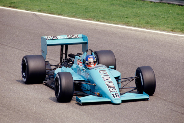 1987 Italian Grand Prix.Monza, Italy.4-6 September 1987.Ivan Capelli (March 871 Ford) 13th position.Ref-87 ITA 28.World Copyright - LAT Photographic