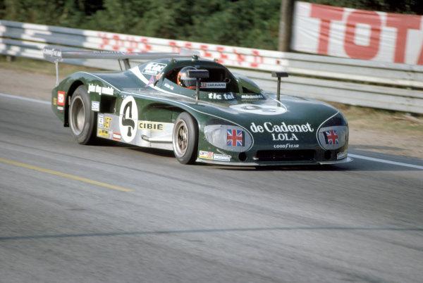 1975 Le Mans 24 HoursLe Mans, France. 14th - 15th June.Chris Craft/Alain de Cadenet (De Cadenet Lola-Ford Cosworth), 14th position.World Copyright: Murenbeeld/LAT Photographicref: 35mm Transparency Image