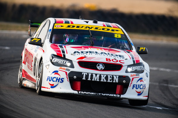 2017 Supercars Championship Round 2.  Tasmania SuperSprint, Simmons Plains Raceway, Tasmania, Australia. Friday April 7th to Sunday April 9th 2017. Nick Percat drives the #8 Team Clipsal Brad Jones Racing Commodore VF. World Copyright: Daniel Kalisz/LAT Images Ref: Digital Image 070417_VASCR2_DKIMG_1644.JPG