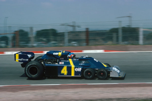 Jarama, Madrid, Spain. 30/4-2/5 1976. Patrick Depailler (Tyrrell P34-Ford), retired with brake problems. Ref: 76 ESP 28. World Copyright - LAT Photographic