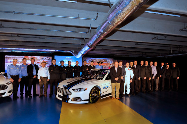 24 January, 2012, Concord, North Carolina, USAGreg Biffle and Jamie Allison with fellow Ford drivers and Ford and NASCAR officials at the unveiling of the 2013 Ford Fusion which will compete in the NASCAR Sprint Cup Series in 2013.(c)2012, LAT SouthLAT Photo USA