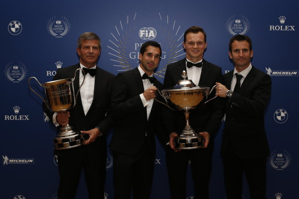 2016 FIA Prize Giving Vienna, Austria Friday 2nd December 2016 Fritz Enzinger, Neel Jani, Marc Lieb and Romain Dumas or Porsche. Photo: Copyright Free FOR EDITORIAL USE ONLY. Mandatory Credit: FIA ref: 30559271964_d1955c4129_o