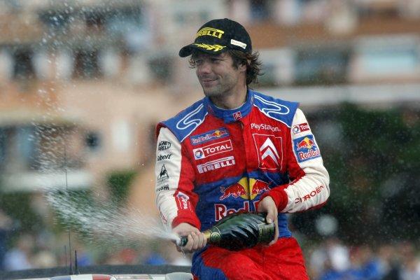 2008 FIA World Rally ChampionshipRound 06Rally d'Italia Sardegna 200815-18 of May 20Sebastien Loeb,  Citroen WRC, Podium