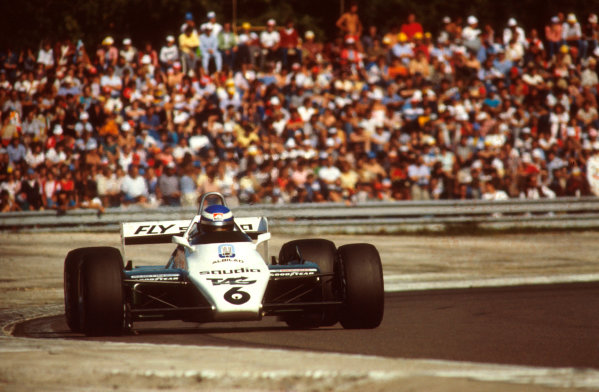 Dijon-Prenois, France.27-29 August 1982.Keke Rosberg (Williams FW08 Ford) 1st position.Ref: 82SWI01. World Copyright - LAT Photographic