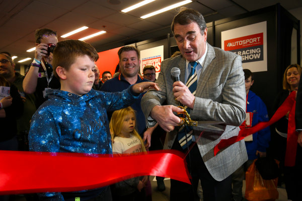 Autosport International Exhibition. National Exhibition Centre, Birmingham, UK. Sunday 14th January, 2018. Nigel Mansell opens the show.World Copyright: Mike Hoyer/JEP/LAT Images Ref: AQ2Y9518