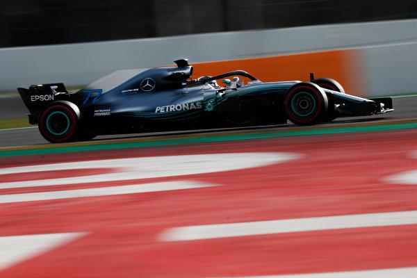 Circuit de Catalunya, Barcelona, Spain. Friday 09 March 2018. Valtteri Bottas, Mercedes AMG F1 W09. World Copyright: Glenn Dunbar/LAT Images ref: Digital Image _X4I1876