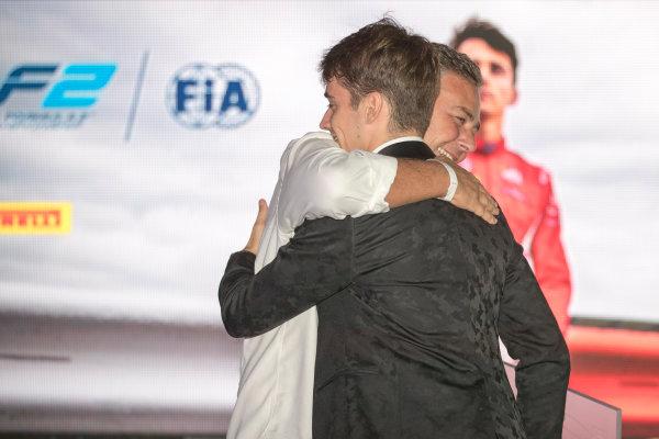2017 Awards Evening. Yas Marina Circuit, Abu Dhabi, United Arab Emirates. Sunday 26 November 2017. Charles Leclerc (MCO, PREMA Racing).  Photo: Zak Mauger/FIA Formula 2/GP3 Series. ref: Digital Image _56I3798