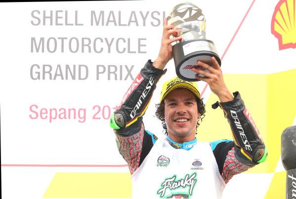 2017 Moto2 Championship - Round 17 Sepang, Malaysia. Sunday 29 October 2017 Podium: third place Franco Morbidelli, Marc VDS World Copyright: Gold and Goose / LAT Images ref: Digital Image 26787