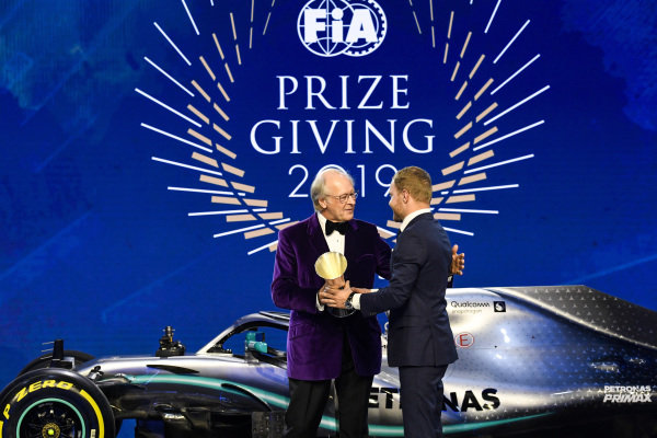 Graham Stocker with Valtteri Bottas