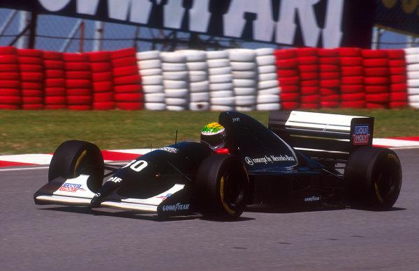 1993 South African Grand Prix.Kyalami, South Africa.12-14 March 1993.J J. Lehto (Sauber C12 Ilmor) 5th position.Ref-93 SA 15.World Copyright - LAT Photographic