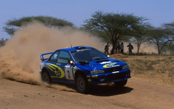 2000 World Rally ChampionshipRound 3, Safari WRC25th - 27th Feb 2000Richard Burns, Subaru Impreza - action on his way to victory.Photo: McKleinTel: +44 (0)181 251 3000Fax: +44 (0)181 251 3001Somerset House,Somerset Road,Teddington,Middlesex,TW11 8RUUnited Kingdon.