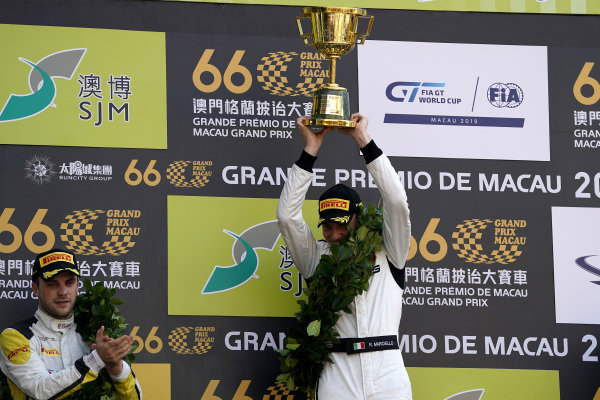 Podium: #999 Mercedes-AMG Team GruppeM Racing Mercedes AMG GT3: Raffaele Marciello.