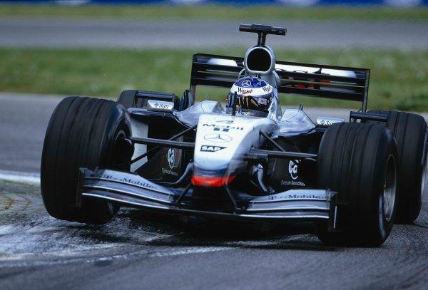 2002 San Marino Grand Prix.Imola, Italy.12-14 April 2002.Kimi Raikkonen (McLaren MP4/17 Mercedes).Ref-02 SM 01.World Copyright - LAT Photographic