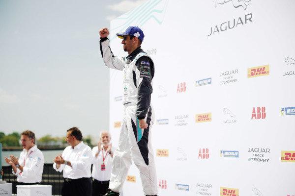 Bandar Alesayi (SAU), Saudi Racing, 3rd position, celebrates on the podium