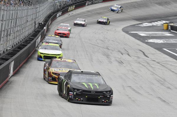 #1: Kurt Busch, Chip Ganassi Racing, Chevrolet Camaro Monster Energy, #37: Chris Buescher, JTG Daugherty Racing, Chevrolet Camaro Bush's Beans