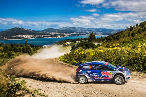 Teemu Suninen (FIN) / Mikko Markkula (FIN) M-Sport World Rally Team Ford Fiesta R5 at World Rally Championship, Rd6, Rally Portugal, Day Two, Matosinhos, Portugal, 20 May 2017.