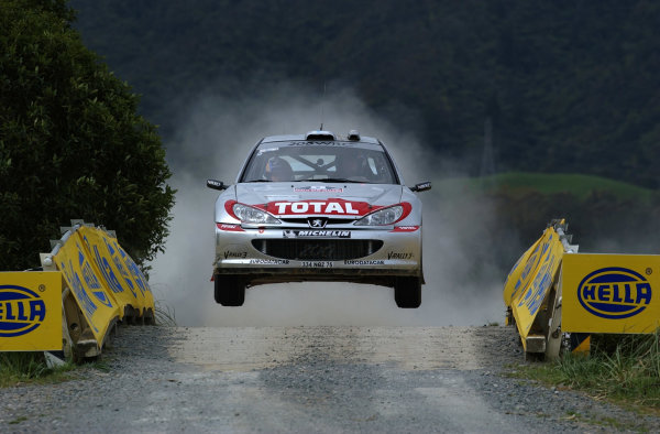 2002 World Rally Championship.Propecia Rally of New Zealand, Auckland, October 3rd-6th.Marcus Gronholm on stage 14 .Photo: Ralph Hardwick/LAT