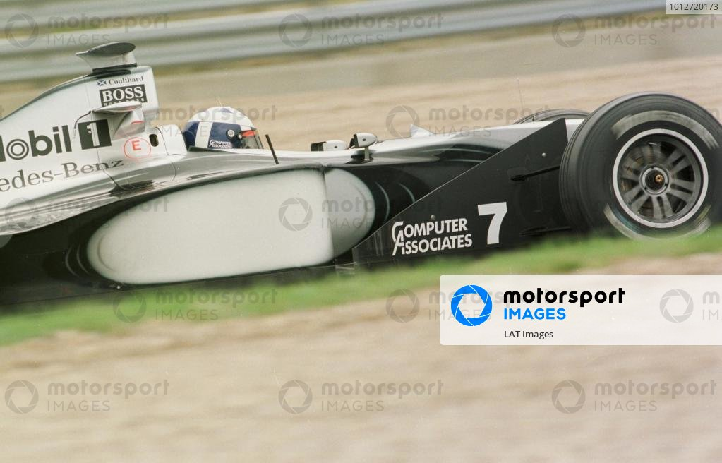 1998 French Grand Prix.Magny-Cours, Nevers, France.26-28 June 1998.David Coulthard (McLaren MP4/13 Mercedes-Benz).World Copyright - Steve Etherington/LAT Photographic