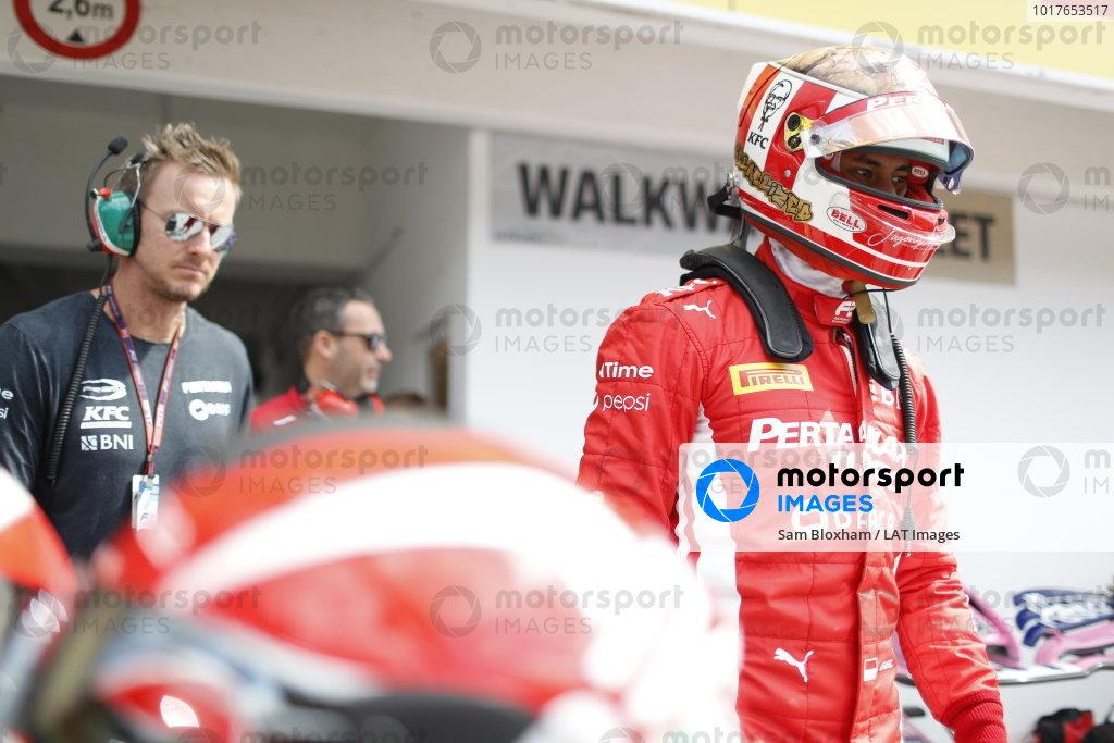 HUNGARORING, HUNGARY - AUGUST 04: Sean Gelael (IDN,PREMA RACING) during the Hungaroring at Hungaroring on August 04, 2019 in Hungaroring, Hungary. (Photo by Sam Bloxham / LAT Images / FIA F2 Championship)