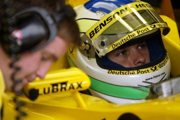 2002 European Grand Prix - PracticeNurburgring, Germany. 21st June 2002Giancarlo Fisichella (Jordan Honda).World Copyright: Steve Etherington/LATref: Digital Image Only