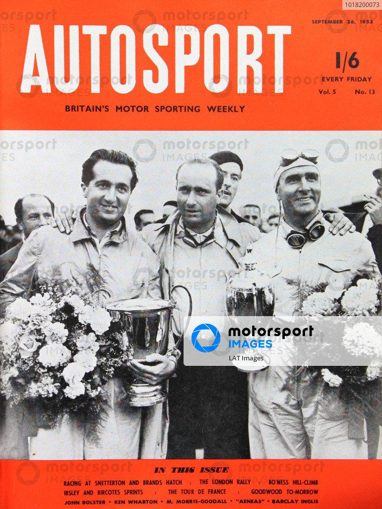 Cover of Autosport magazine, 26th September 1952