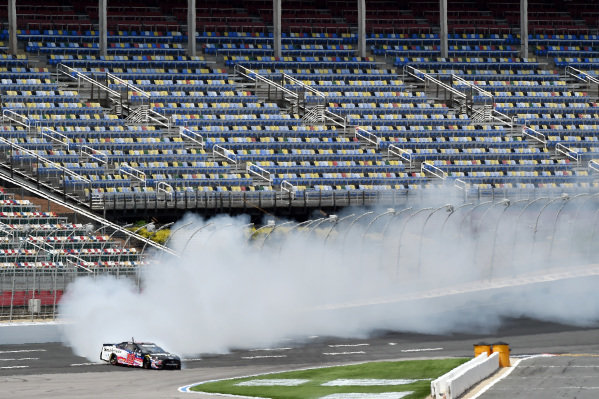 Aric Almirola, Stewart-Haas Racing Ford Smithfield spins, Copyright: Jared C. Tilton/Getty Images.
