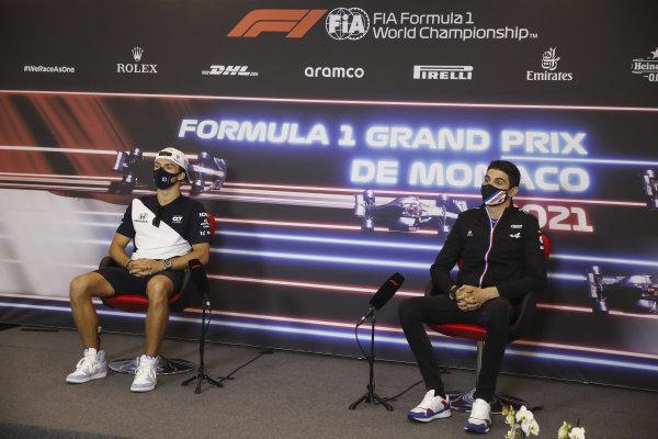 Pierre Gasly, AlphaTauri, and Esteban Ocon, Alpine F1, in the Press Conference
