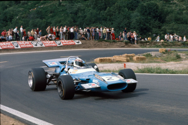 Clermont-Ferrand, France. 6 July 1969 Jackie Stewart, Matra MS80-Ford, 1st position, action World Copyright: LAT Photographic. Ref: 69FRA20.