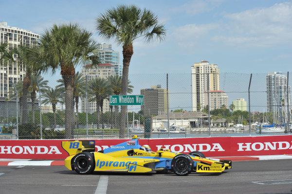 22-24 March, 2013, St Petersburg, Florida USA.#18 Ana Beatriz Dale Coyne Racing Honda ©2013, Dan R.  LAT Photo USA