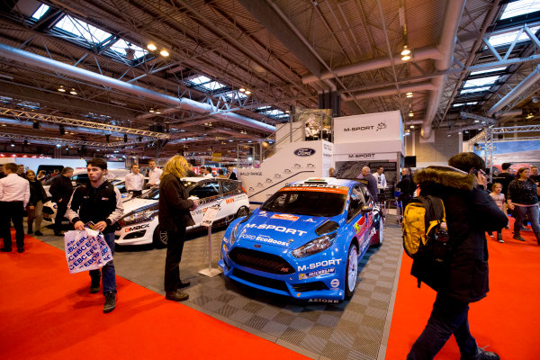 Autosport International Exhibition.  National Exhibition Centre, Birmingham, UK. Thursday 14 January 2016.  The M-Sport stand. World Copyright: Zak Mauger/LAT Photographic. ref: Digital Image _L0U1375
