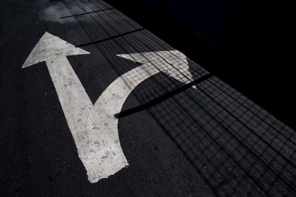 2015/2016 FIA Formula E Championship. Buenos Aires ePrix, Buenos Aires, Argentina. Friday 5 February 2016. Road markings on the track. Photo: Zak Mauger/LAT/Formula E ref: Digital Image _L0U9725