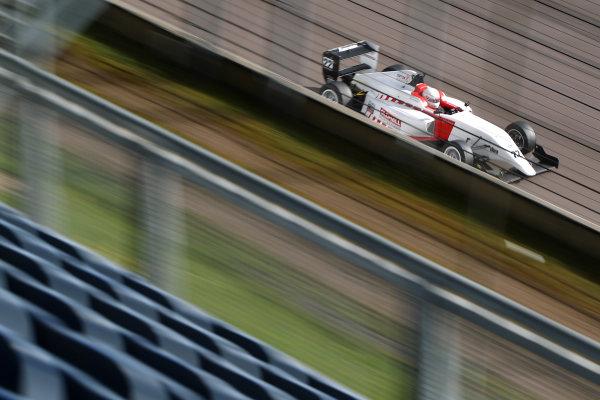 2016 BRDC British Formula 3 Championship, Rockingham, Northamptonshire.  30th April - 1st May 2016. Akhil Rabindra (IND) Lanan Racing BRDC F3. World Copyright: Ebrey / LAT Photographic.