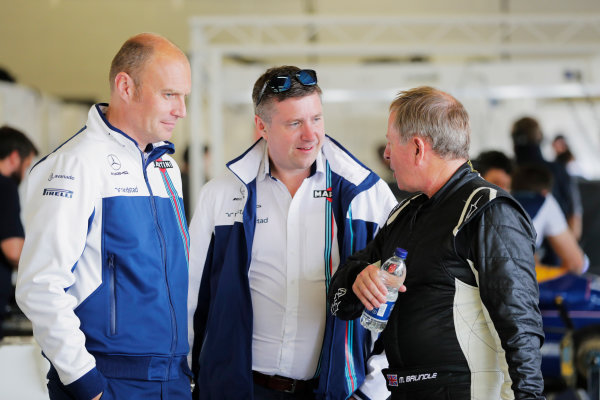 Williams 40 Event Silverstone, Northants, UK Friday 2 June 2017. David Croft talks to Martin Brundle. World Copyright: Zak Mauger/LAT Images ref: Digital Image _54I0464