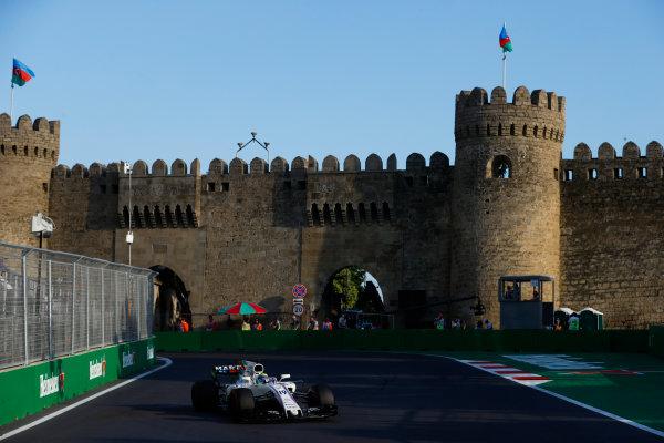 Baku City Circuit, Baku, Azerbaijan. Friday 23 June 2017. Felipe Massa, Williams FW40 Mercedes. World Copyright: Steven Tee/LAT Images ref: Digital Image _R3I2541