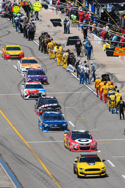 Monster Energy NASCAR Cup Series FireKeepers Casino 400 Michigan International Speedway, Brooklyn, MI USA Sunday 18 June 2017 Ford GT 350 pace car, Kyle Larson, Chip Ganassi Racing, Cars 3 Target Chevrolet SS, Martin Truex Jr, Furniture Row Racing, Auto-Owners Insurance Toyota Camry World Copyright: Logan Whitton LAT Images