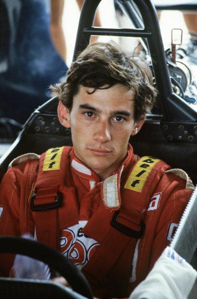 Ayrton Senna (Ralt RT3 Toyota), portrait. Ref - S1B 18. World Copyright: LAT Photographic