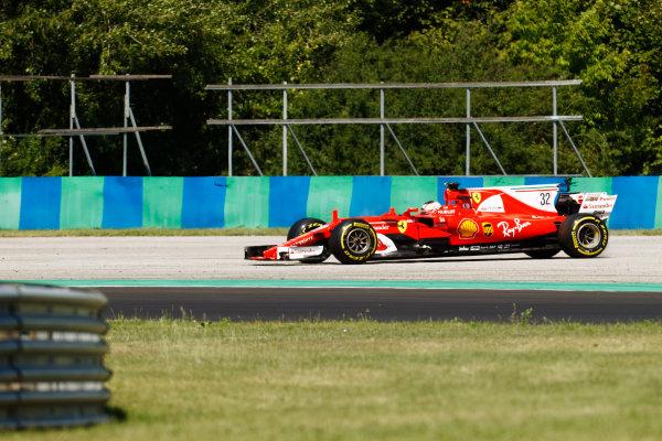 Hungaroring, Budapest, Hungary.  Tuesday 01 August 2017. Charles Leclerc, Ferrari SF70H, off the circuit. World Copyright: Joe Portlock/LAT Images  ref: Digital Image _R3I0466