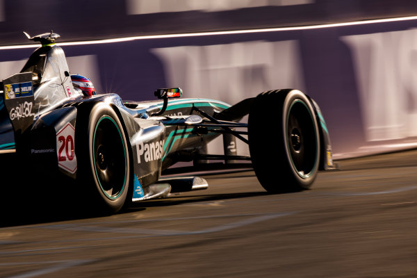2016/2017 FIA Formula E Championship. Round 10 - New York City ePrix, Brooklyn, New York, USA. Sunday 16 July 2017. Mitch Evans (NZL), Jaguar Racing, Spark-Jaguar, Jaguar I-Type 1. Photo: Sam Bloxham/LAT/Formula E ref: Digital Image _W6I3056