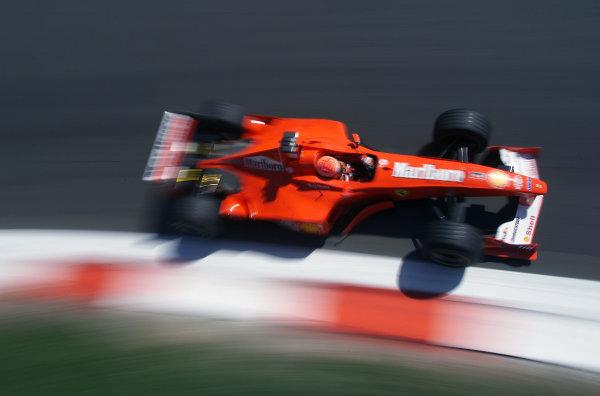 Monza, Italy. 8-10 September 2000.Michael Schumacher (Ferrari F1-2000) 1st position.World Copyright - LAT Photographic