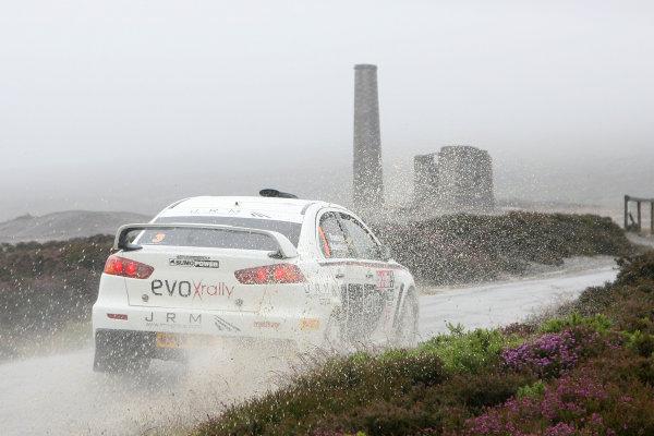 Isle of Man. 9th - 10th July 2010.Gwyndaf Evans/Gareth Roberts - Mitsubishi Lancer Evo 10 Rally.World Copyright: Ebrey LAT Photographic.