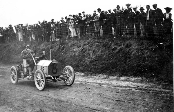 Athy, Ireland, Great Britain.2 July 1903.Baron Pierre de Caters (Mercedes 90hp).World Copyright - LAT Photographic