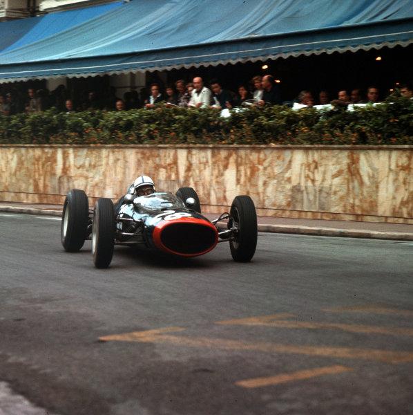 Monte Carlo, Monaco.31/5-3/6 1962.John Surtees (Lola Mk4 Climax) 4th position.Ref-3/0492.World Copyright - LAT Photographic