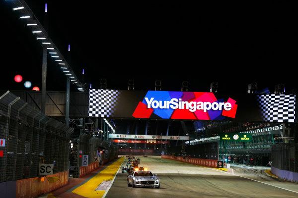 Marina Bay Circuit, Singapore. Sunday 22nd September 2013. Safety car.  World Copyright: Charles Coates/LAT Photographic. ref: Digital Image _N7T7215