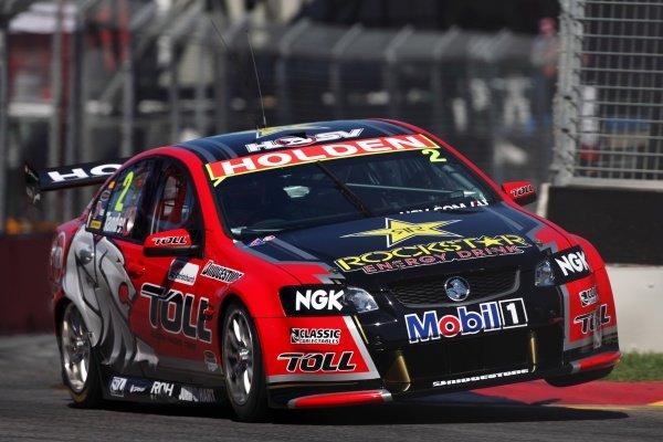 Garth Tander (AUS), Holden Commodore VE2, won Saturday's race. Australian V8 Supercars, Rd2, Clipsal 500, Adelaide, Australia, 19-20 March 2011.